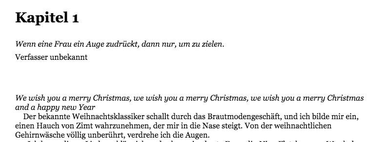 Merry Mary Christmas | Buchnotizen