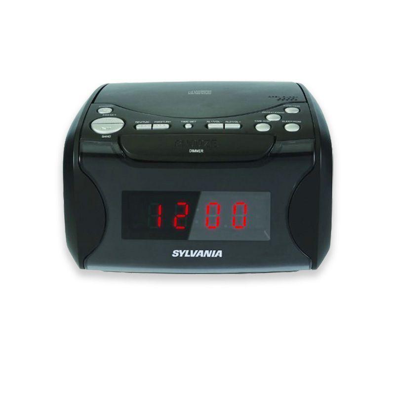 Naxa NAXNRC175B Digital Alarm Clock w// Digital Tuning AM//FM Radio /& CD Player