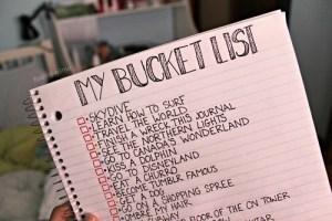 Bucket List Example