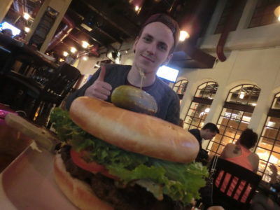 Bucket List: Eat a Huge Hamburger