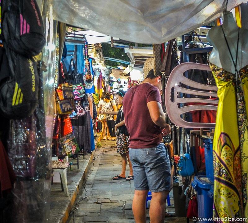 Long long roads of market stalls in Chiang-Mai
