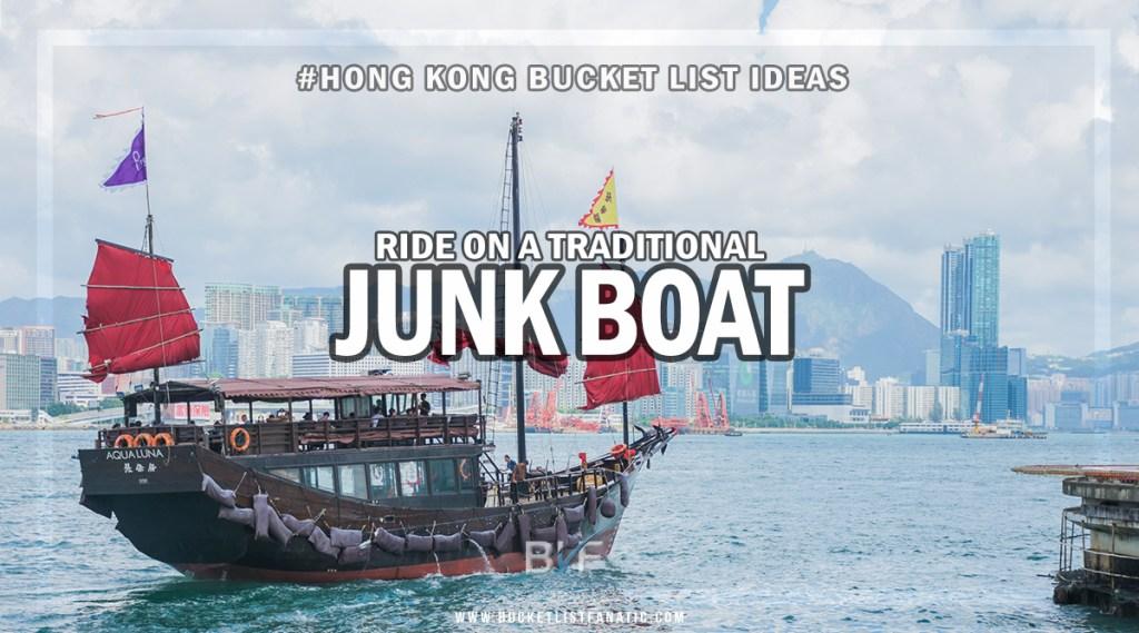 Hong Kong Bucket List - Junk Boat