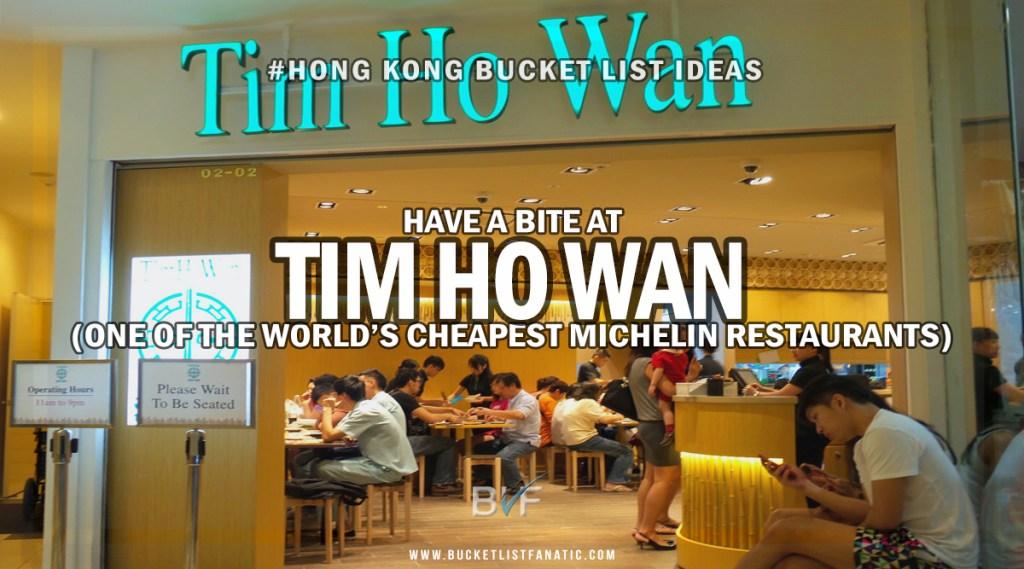 Hong Kong Bucket List - Eat Tim Ho Wan