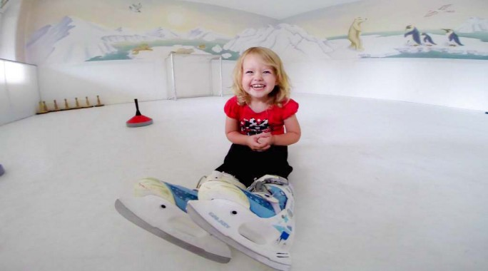 Skating at Kinderhotel