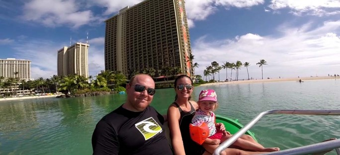 Aqua Bike in the Hilton Hawaiian Lagoon