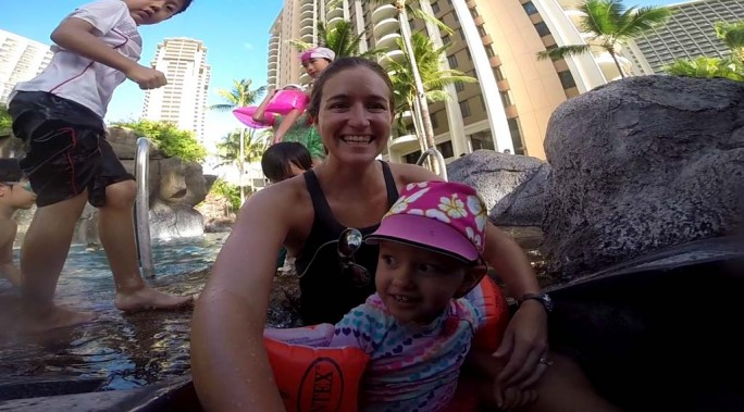 Toddler Friendly Water Slide at Hilton Hawaiian Village