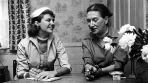 Sylvia Plath interviewing Elizabeth Bowen.