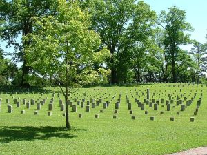 Union cemetery at Shiloh National Military Park.