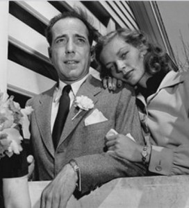 Bogie and Bacall on their wedding day.