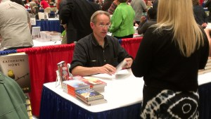 Jasper Fforde signing books at Books By The Banks.