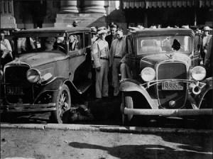 Aftermath of the Kansas City Massacre.