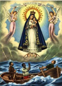Image of Our Lady of Cobre, a representation of the Virgin Mother that is a fixture in many Hispanic nations, including Cuba.