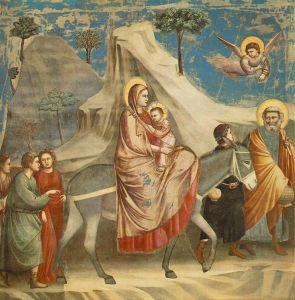 """Giotto di Bondone's """"The Flight Into Egypt"""" (c. 1305-06)."""