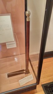 Dunbar's cane with built-in flask.