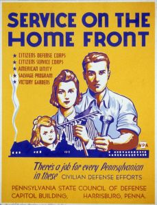 Home front poster during World War II.