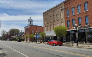 Main Street in Clyde, Ohio (author's photo).