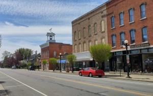 Main Street in Clyde, Ohio (author's photo).