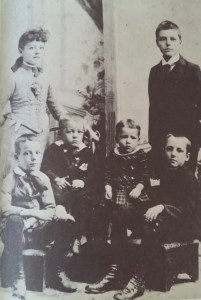 The Anderson children: Standing are Stella and Karl. Seated from left to right are Sherwood, Ray, Earl, and Irwin, Jr.