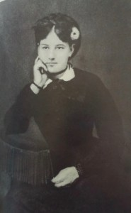 """Anderson's beautiful and beloved mother Emma Smith Anderson, born in Oxford, Ohio in 1852. The family split up after her death in 1895. Photo from """"Sherwood Anderson: A Biography"""" by Kim Townsend."""