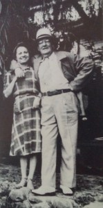 """Eleanor Copenhaver and Sherwood Anderson in Boulder, Colorado in 1937. Photo from """"Sherwood Anderson: A Biography"""" by Kim Townsend."""