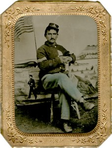 George Whitman, Union soldier and Walt Whitmans' brother (Photo: Duke University).