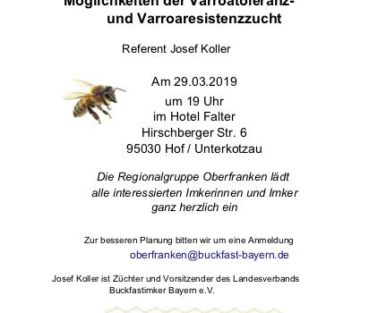 Einladung zum Vortrag –  Regionalteam Oberfranken 29. März 2019
