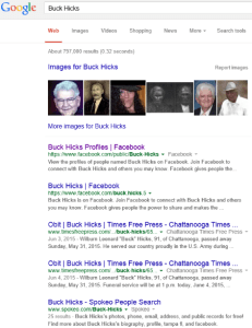 Buck Hicks Search