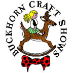 girl on rocking horse logo for Buckhorn Craft Shows