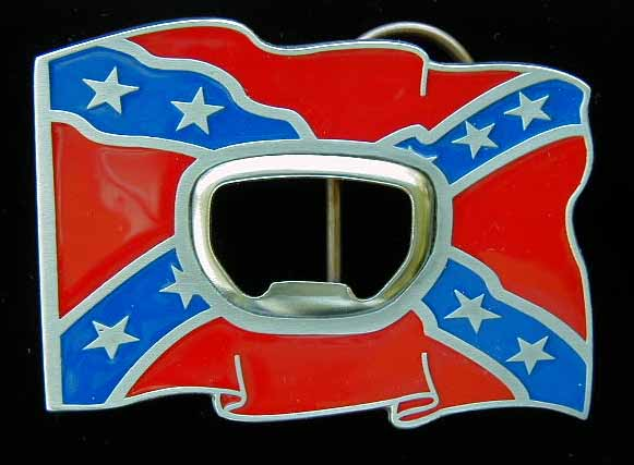 """L-259E Rebel Flag With Bottle Opener 3"""" by 2 1/4"""""""
