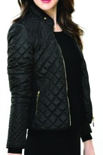 Charlie Paige Quilted Black Jacket