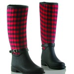 Fabric Rubber Boots