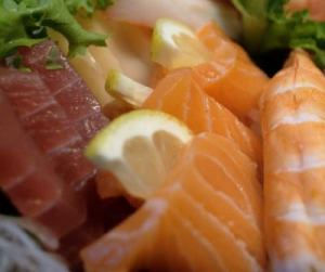 Tuna & Salmon Sashimi at Kira; photo by Emily Trostle
