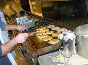 NHS HS Pancake b'fast; photo by L. Goldman