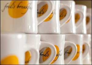 Fred's Breakfast mugs; photo by Nancy Hyams Sher
