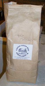 Castle Valley Mill flour; photo by L. Goldman; baking matzah