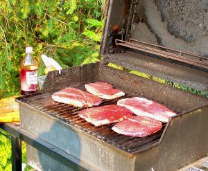 Tussock Sedge steaks; photo by L. Goldman