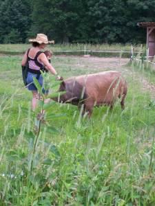 Joanna and pig