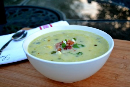 Summer sweet corn chowder