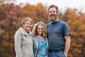 Tricia, Tom & Dakota; photo courtesy of Blooming Glen Farm