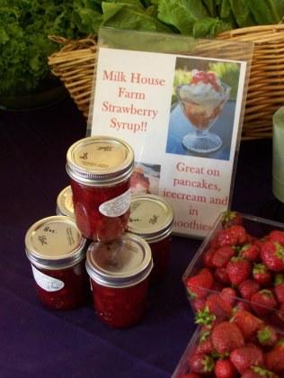 Strawberries at Milk House Farm Market