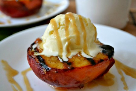 Grilled Peach_caramel_photo credit Kelly Madey