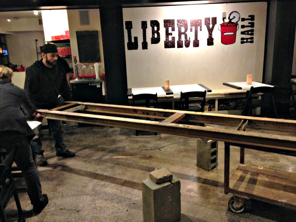 Pisano brothers putting table together