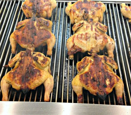 Fire-Grilled Chickens