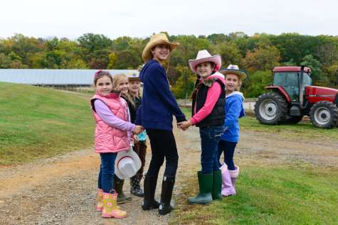 Kids at Fulper Family Farmstead Adventure Camp