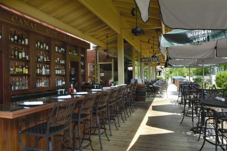 Lambertville Station canal side patio; photo courtesy of Lambertville Station & Inn