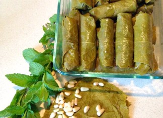 Dolmades/Stuffed Grape Leaves; photo credit Wendy Yurgosky