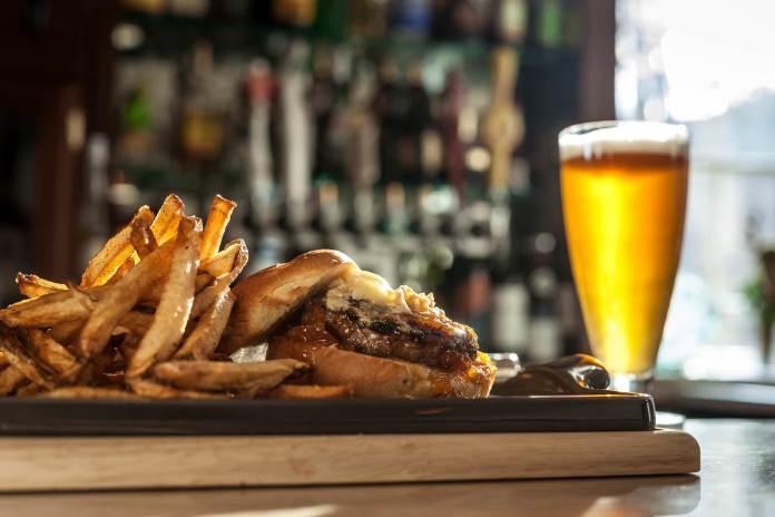 Golden Pheasant burger; photo courtesy of Golden Pheasant Inn