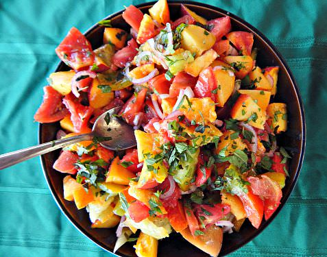 Recipes for the Season: Peach-Tomato Salad