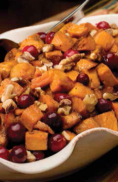 Apple Cider & Maple Glazed Sweet Potato