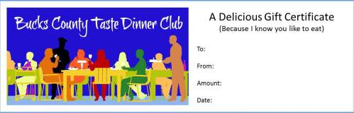 BCT Dinner Club gift certificate